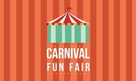 Funfair del carnaval con el fondo de la tienda libre illustration