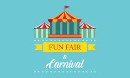 Funfair del carnaval y bandera del parque de atracciones libre illustration