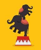 funfair del festival de los acróbatas de los elefantes stock de ilustración