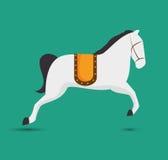 funfair del festival del entretenimiento del caballo stock de ilustración
