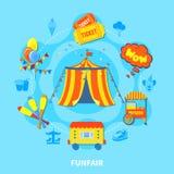 Funfair design vector illustration Stock Photos