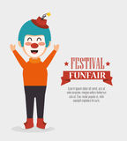 funfair divertido del festival del payaso del cartel libre illustration