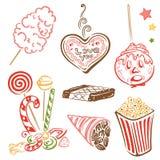 Funfair, dulces, caramelo stock de ilustración