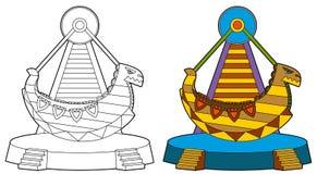 The funfair element - illustration Royalty Free Stock Photo