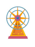 The funfair element - illustration for the children Stock Images