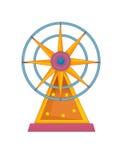 The funfair element - illustration for the children Stock Images