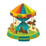 The funfair element - illustration for the children. Beautiful and colorful funfair element Royalty Free Stock Photography