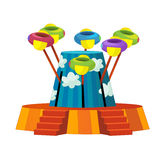 The funfair element - illustration for the children. Beautiful and colorful funfair element Royalty Free Stock Photos