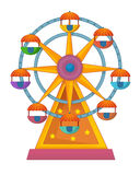 The funfair element - illustration for the children. Beautiful and colorful funfair element Stock Photo