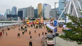 Funfair en la isla de Hong Kong almacen de metraje de vídeo