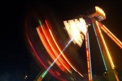 Funfair en la noche Fotos de archivo libres de regalías