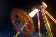 Funfair en la noche Imagen de archivo