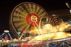 Funfair en la noche Imágenes de archivo libres de regalías