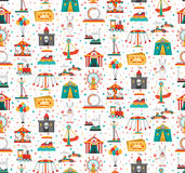 Funfair Fair Amusement Park Seamless Pattern Royalty Free Stock Photo