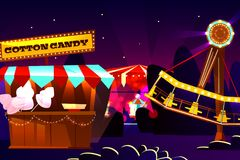 Funfair or fairground cartoon vector illustration vector illustration