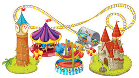 Funfair games. Illustration of funfair games on a white background vector illustration