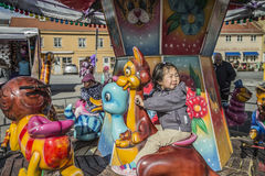 Funfair in Halden Lizenzfreies Stockbild