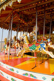 Funfair horse carousel. Carousel or horse merry-go-round from funfair royalty free stock image