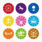 Funfair icons Stock Image