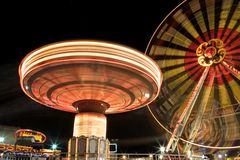 Funfair la nuit photo stock