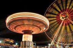 Funfair la nuit Photo stock