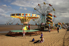 Funfair at Mablethorpe Stock Images