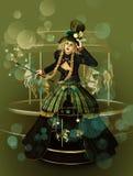 funfair magiczny royalty ilustracja
