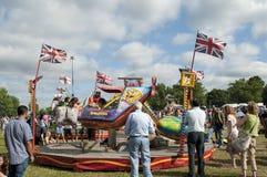 Funfair, mostra 2013 do país de Lambeth, parque de Brockwell, Londres, Reino Unido imagens de stock