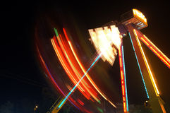 Funfair na noite Fotos de Stock Royalty Free