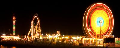 Funfair at night Royalty Free Stock Photography