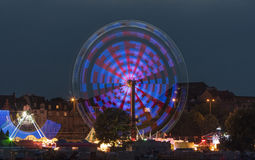 Funfair at night. Image of a funfair ground at night in Germany Royalty Free Stock Images