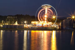 Funfair night view Royalty Free Stock Photos