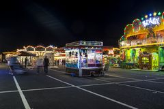 Funfair in Offenbach. At night Royalty Free Stock Image