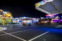 Funfair in Offenbach. At night Royalty Free Stock Images