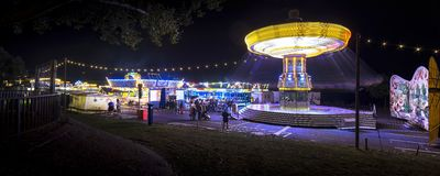 Funfair in Offenbach. At night Royalty Free Stock Photos
