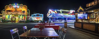 Funfair in Offenbach. At night Stock Images