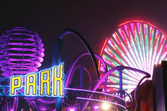 Funfair Pacific Park at Santa Monica Royalty Free Stock Images