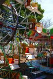 Funfair playground kermis children fun Stock Photos
