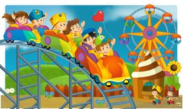 The funfair - playground for kids Royalty Free Stock Image