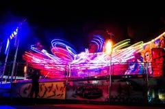 Funfair przejażdżka Przy nocą Obrazy Royalty Free