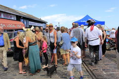 Funfair Reino Unido do porto de Folkestone fotografia de stock