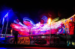 Funfair Ride At Night Royalty Free Stock Images