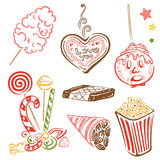 Funfair, sweets, candy Royalty Free Stock Images