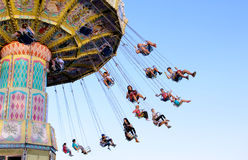Funfair swing ride. Swing ride at Canadian National Exhibition in Toronto, Ontario, Canada stock image