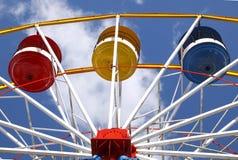 Funfair wheel. A colorful Ferris Wheel at a funfair Royalty Free Stock Photo