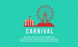 Funfair y circo del carnaval del fondo stock de ilustración