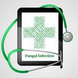 Fungal Infection Represents Poor Health And Affliction. Fungal Infection Indicating Poor Health And Ulceration Royalty Free Stock Photography