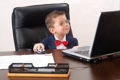 fungerande barn för elegant anteckningsbok för chef modern Arkivfoto
