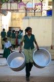 Fungerande barn i Indien Arkivfoto