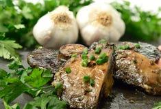 Funghi all'aglio 3 Fotografie Stock